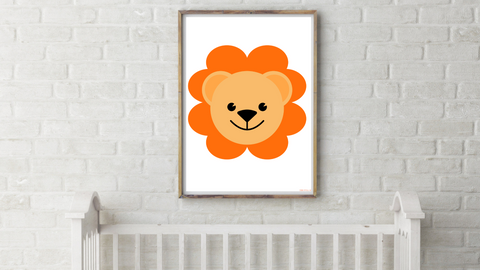 Baby Jungle Lion Nursery Printable
