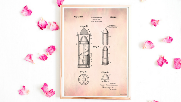 1952 Lipstick Case Patent Drawing