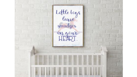 Little Boys Leave Smudges printable