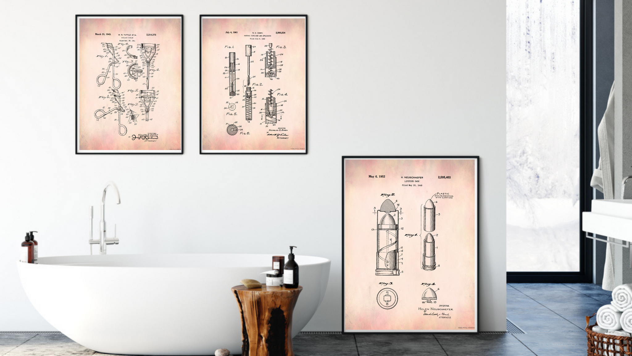 Makeup Patent Drawings Set