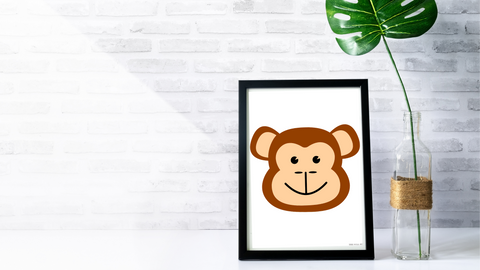 Baby Jungle Monkey Nursery Printable