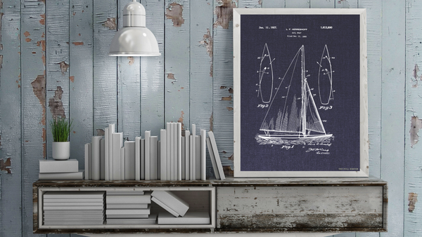 1927 Sailboat Patent Drawing