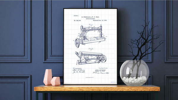 1885 Sewing Machine Patent Drawing