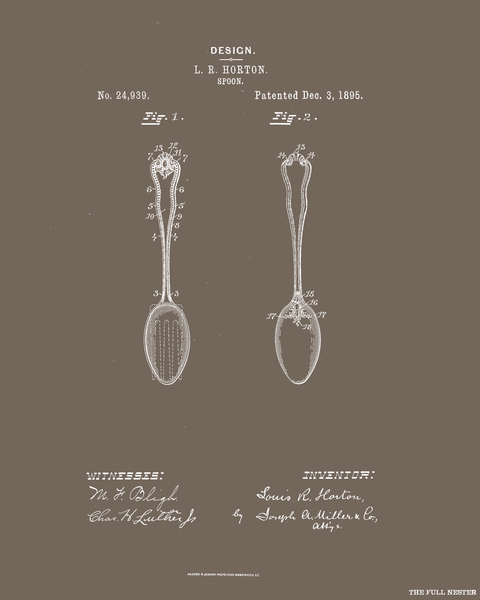 1895 Spoon Patent Drawing