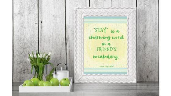 Stay is a Charming Word printable