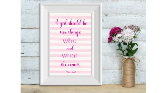 Two Things a Girl Should Be printable