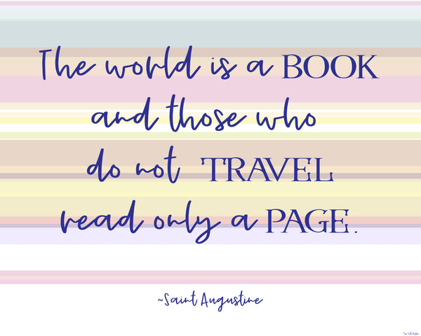 The World is a Book printable