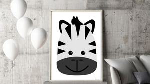 Baby Jungle Zebra Nursery Printable