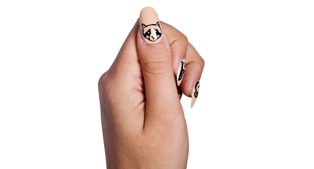Animal Party - Nail Wrap - Scratch - 3