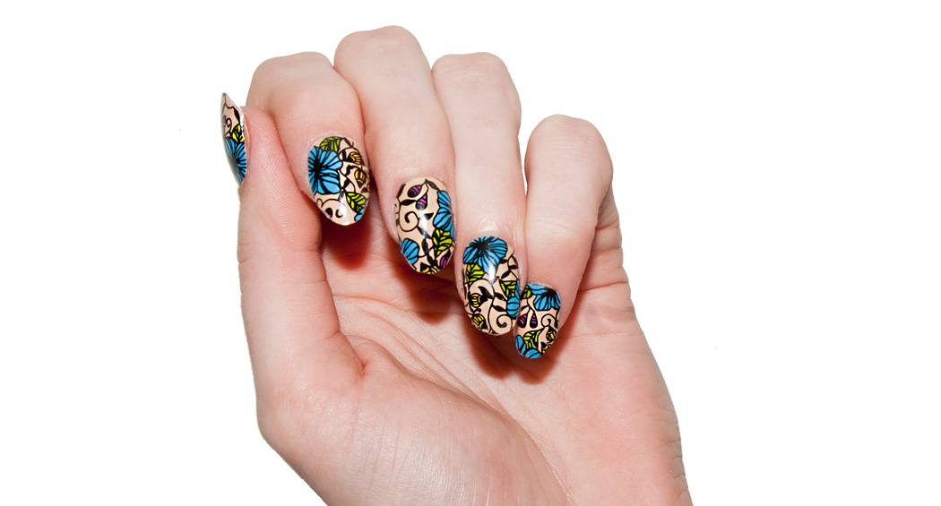 Botanical - Nail Wrap - Scratch - 2