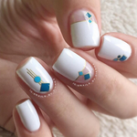 Beach Deco - nail wraps - Scratch - 5