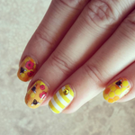 Bee Happy - nail wraps - Scratch - 7