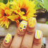 Bee Happy - nail wraps - Scratch - 4