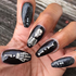 Dancing Skeletons - nail wraps - Scratch - 4