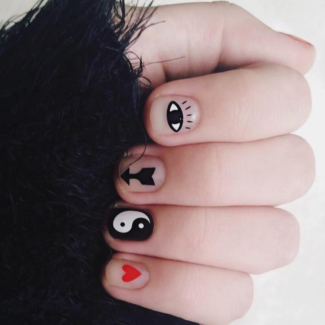 Eye Heart You - nail wraps - Scratch - 5