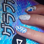 Saved By The Zebras - nail wraps - Scratch - 7