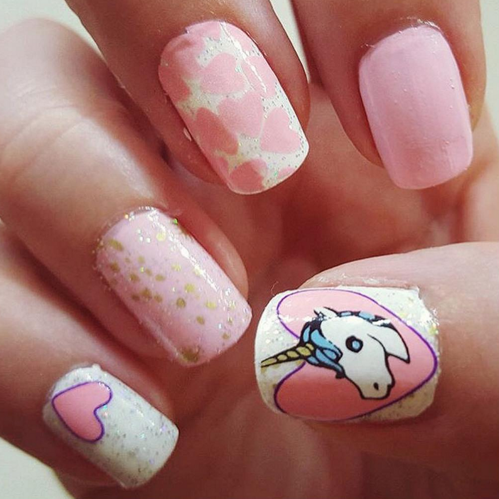 Unicorn - nail wraps - Scratch - 4