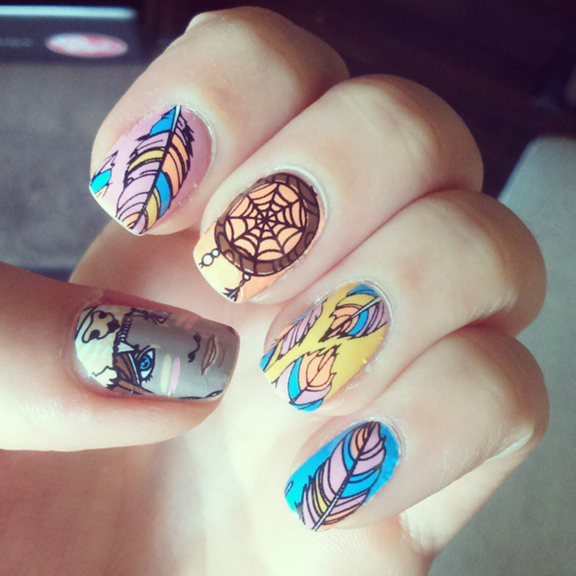 Take Flight - nail wraps - Scratch - 6