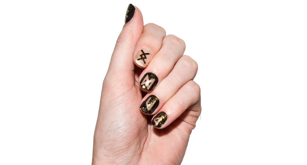 Ancient Runes - Nail Wrap - Scratch - 2
