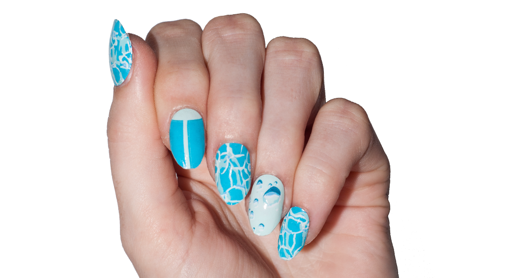 April Showers - nail wraps - Scratch - 2