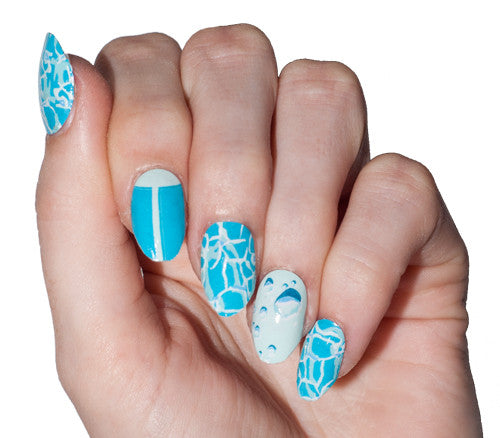 April Showers - nail wraps - Scratch - 1