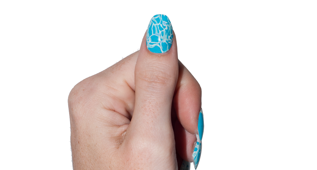 April Showers - nail wraps - Scratch - 3
