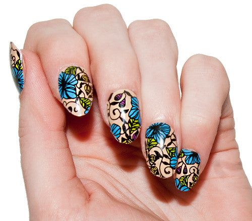 Botanical - Nail Wrap - Scratch - 1