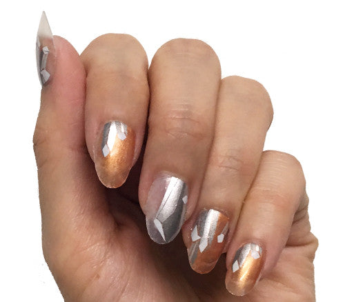 Power Crystals - nail wraps - Scratch - 1
