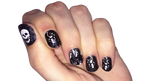 Dancing Skeletons - nail wraps - Scratch - 2