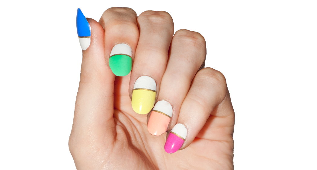 Day-glo - nail wraps - Scratch - 3