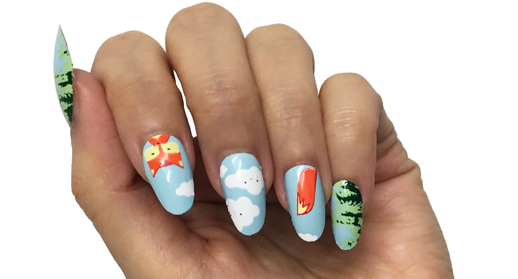 Fiery Foxes - nail wraps - Scratch - 3