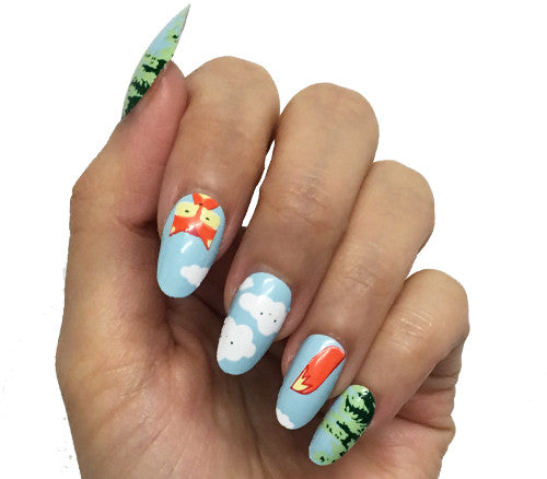 Fiery Foxes - nail wraps - Scratch - 1