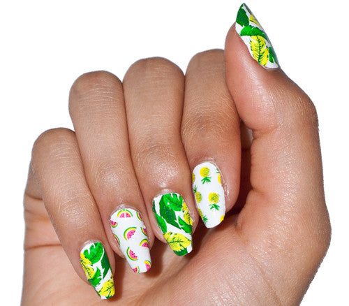 Fruit Basket - nail wraps - Scratch - 1