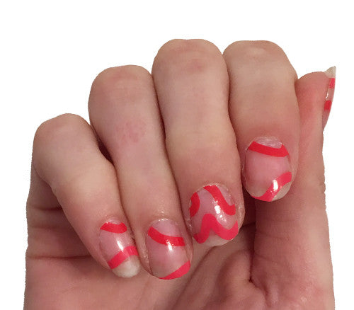 Heartbeats - nail wraps - Scratch - 1