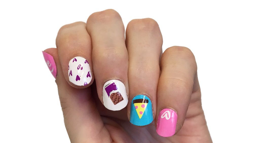 Love is … - nail wraps - Scratch - 2