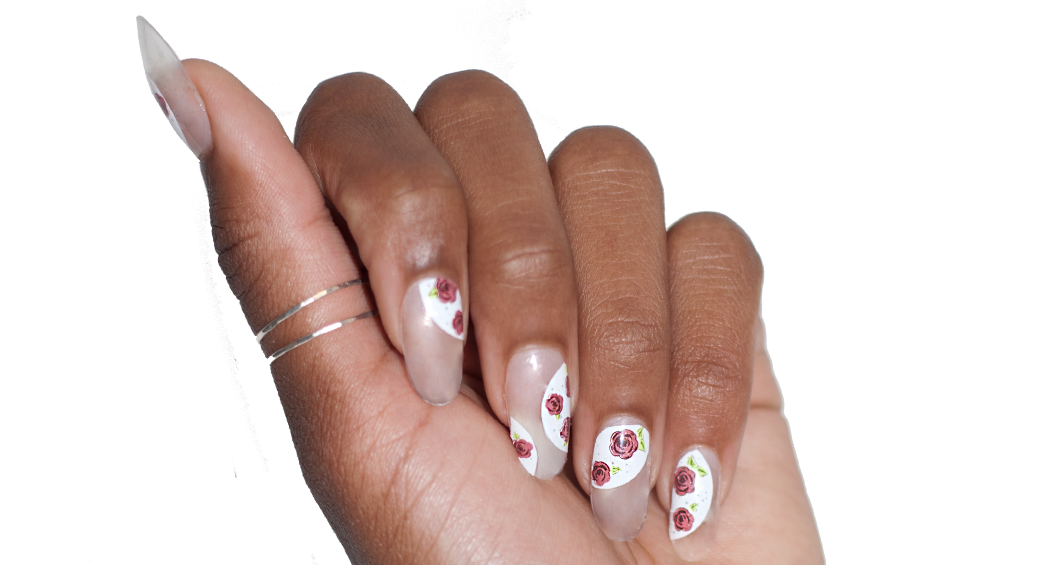 May Flowers - nail wraps - Scratch - 2