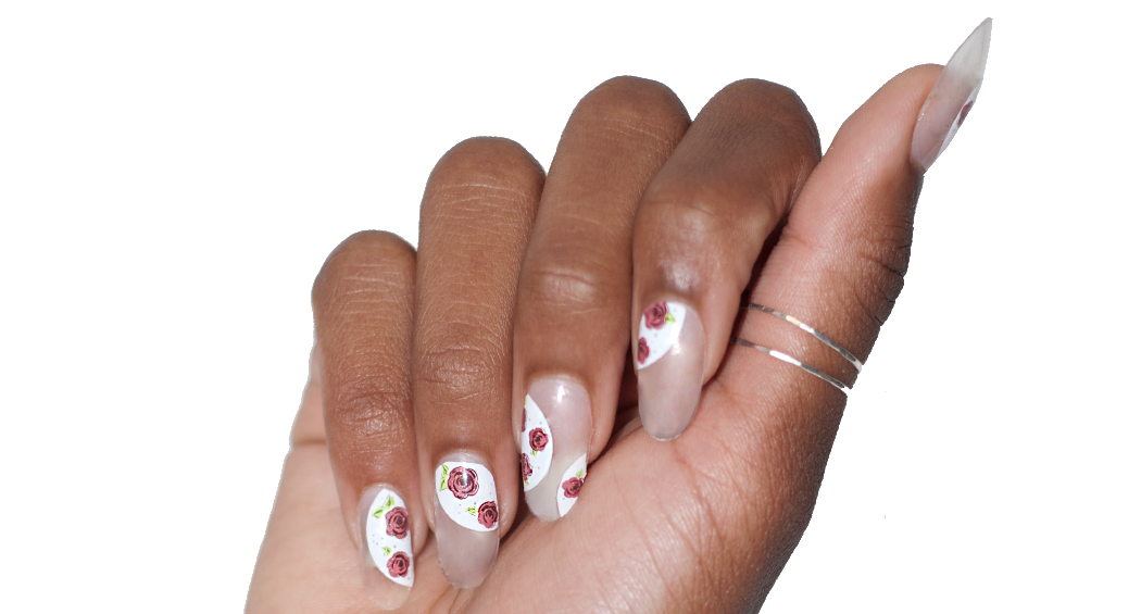 May Flowers - nail wraps - Scratch - 3