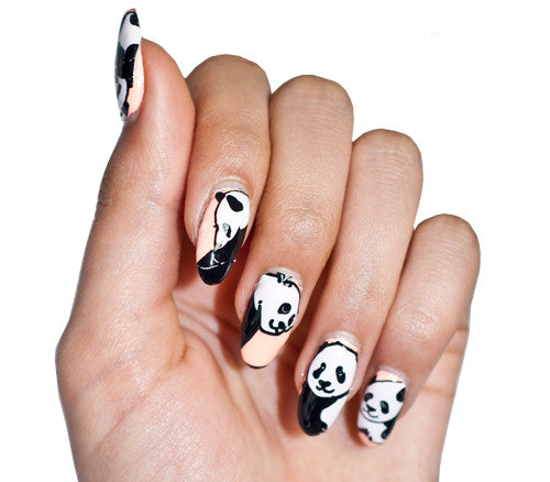 Lazy Pandas - nail wraps - Scratch - 1