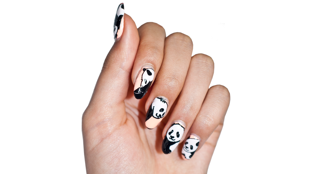 Lazy Pandas - nail wraps - Scratch - 2
