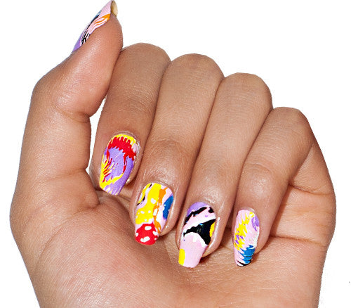 Popsicle Puddle - nail wraps - Scratch - 1
