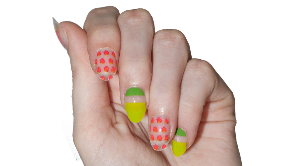 Strawberry Fields - nail wraps - Scratch - 2