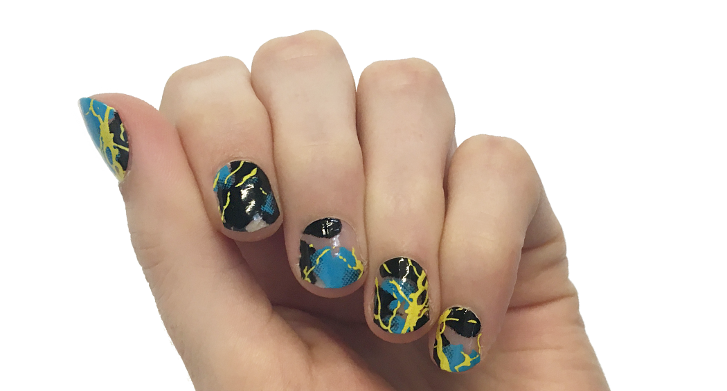 Thunder - nail wraps - Scratch - 2