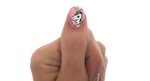Unicorn - nail wraps - Scratch - 3