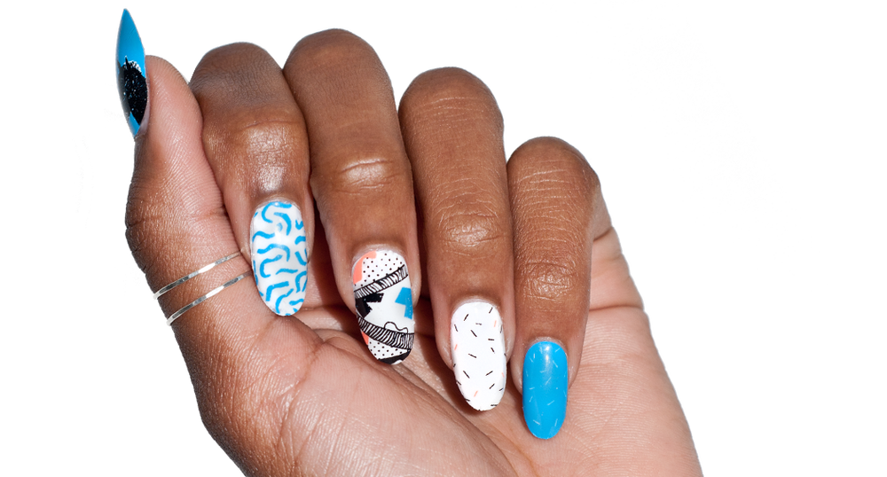 Saved By The Zebras - nail wraps - Scratch - 2