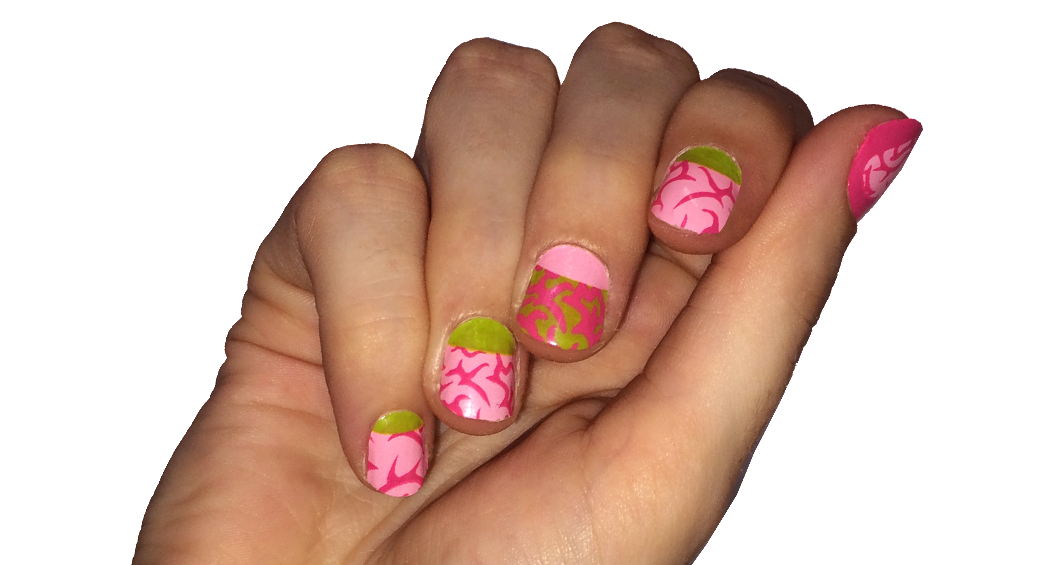 Zombies Love Brains - nail wraps - Scratch - 3