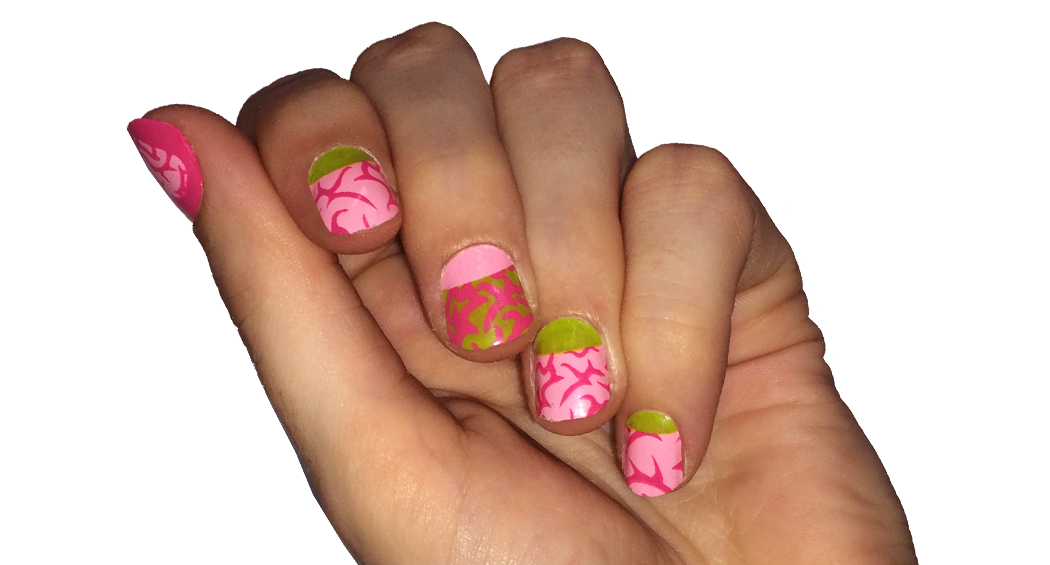 Zombies Love Brains - nail wraps - Scratch - 2