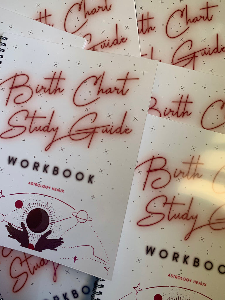 Astrology Heaux Birth Chart Study Guide - Workbook (Red/Print)