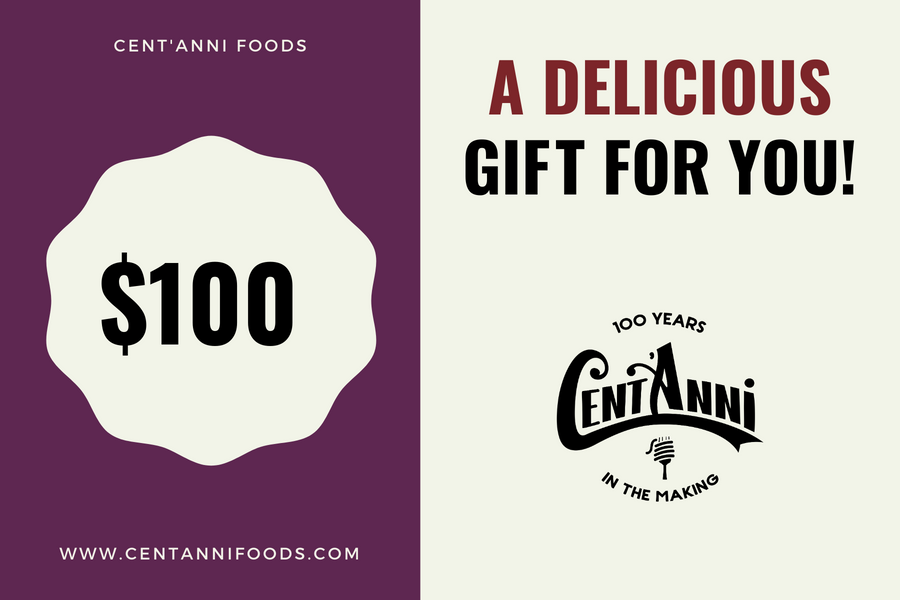 Cent'Anni Gift Card - $100