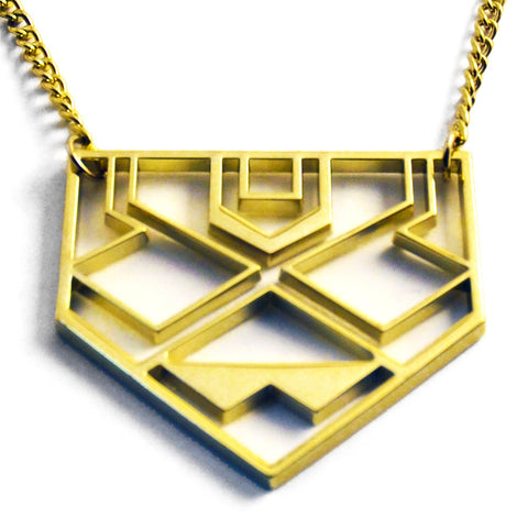 Geometric Native Gold Necklace