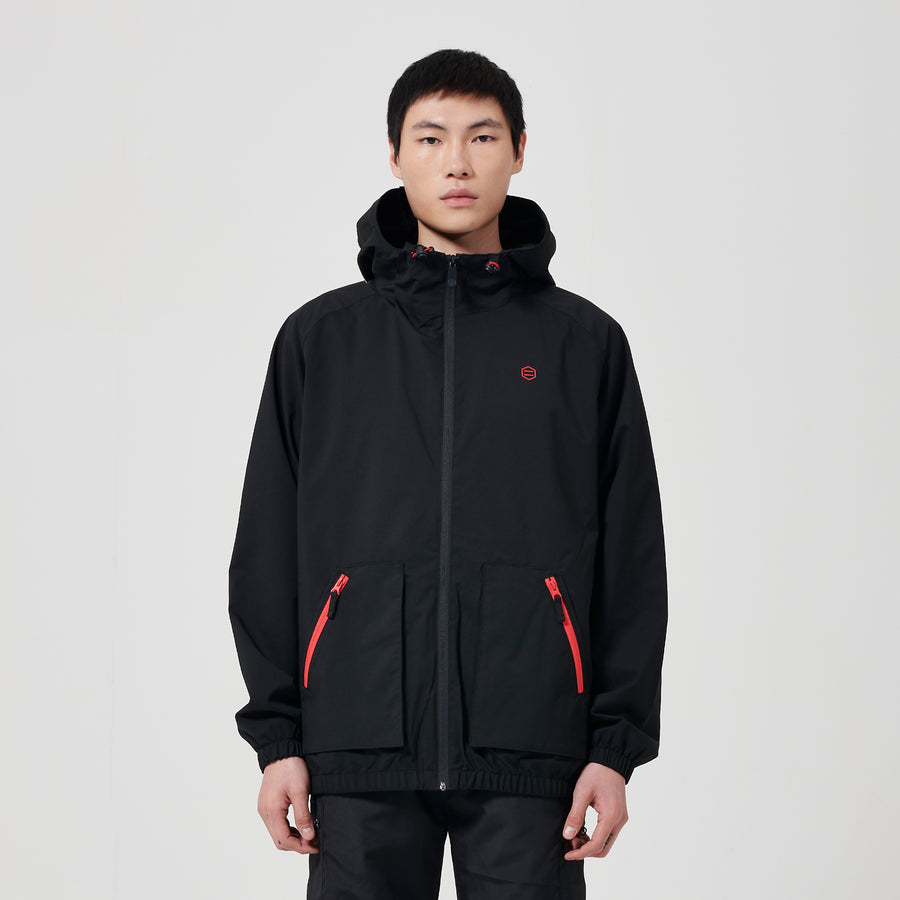 Full Zip Light Black
